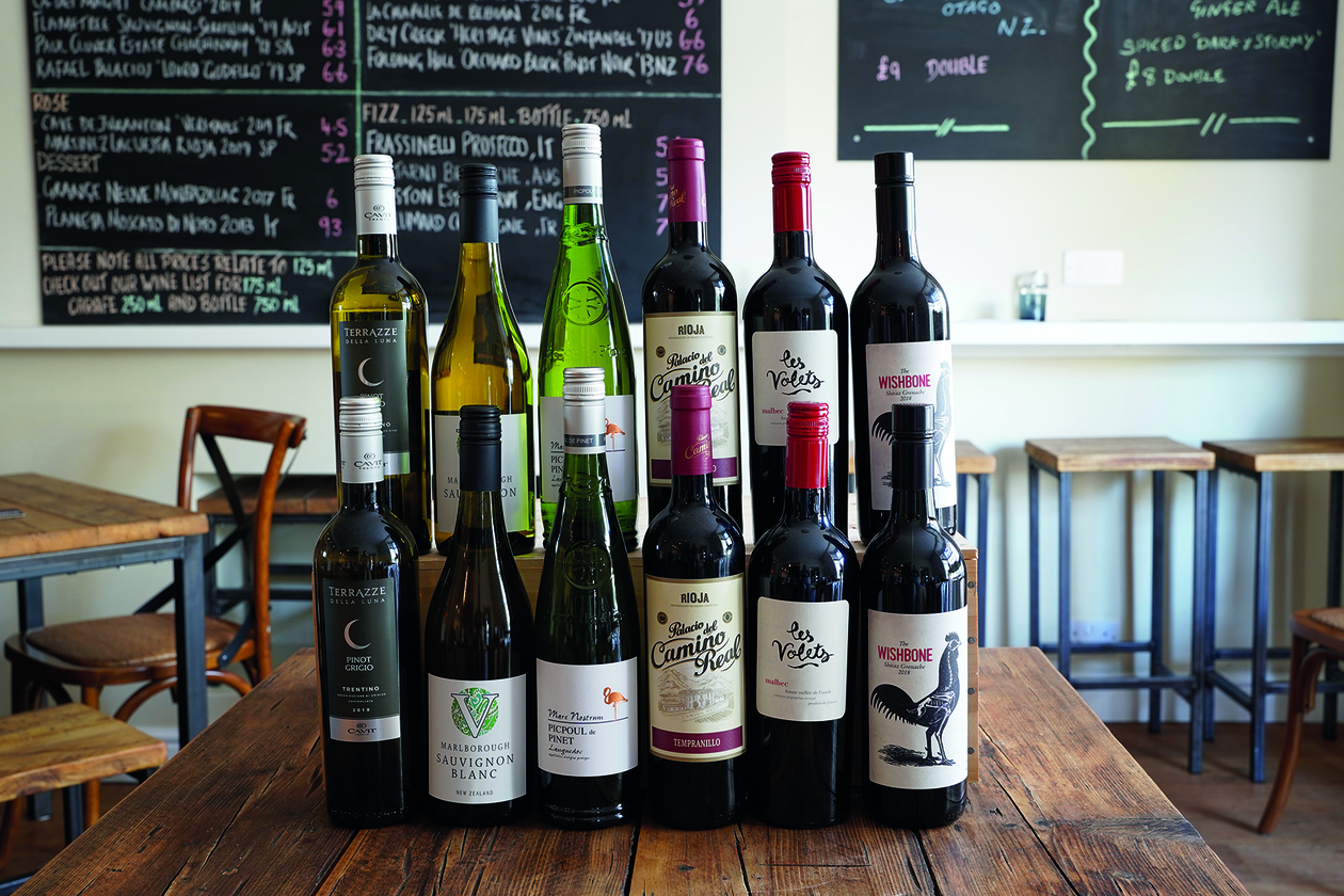 a selection of all rounder/party wines