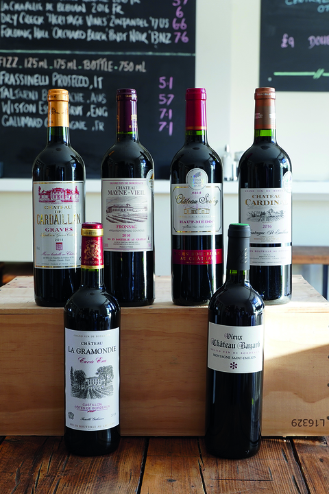mixed 6 Bordeaux reds
